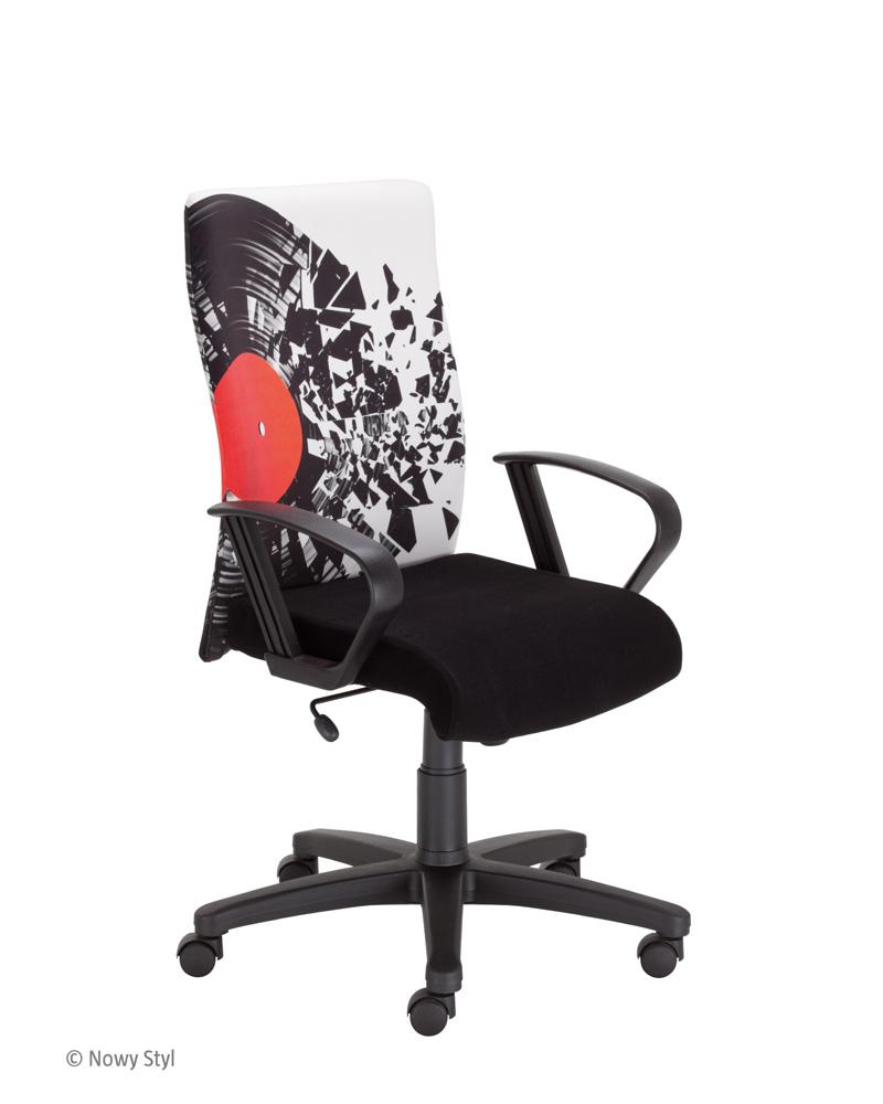 Nowy Styl Krzesło z nadrukiem na oparciu