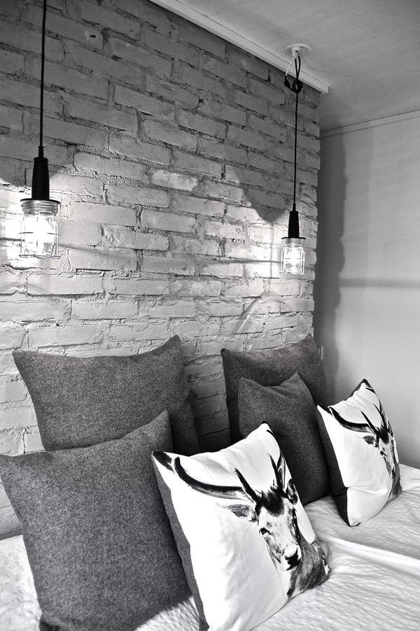 Ciany z cegie we wn trzu 1 design by colors - Brick wallpaper bedroom design ...