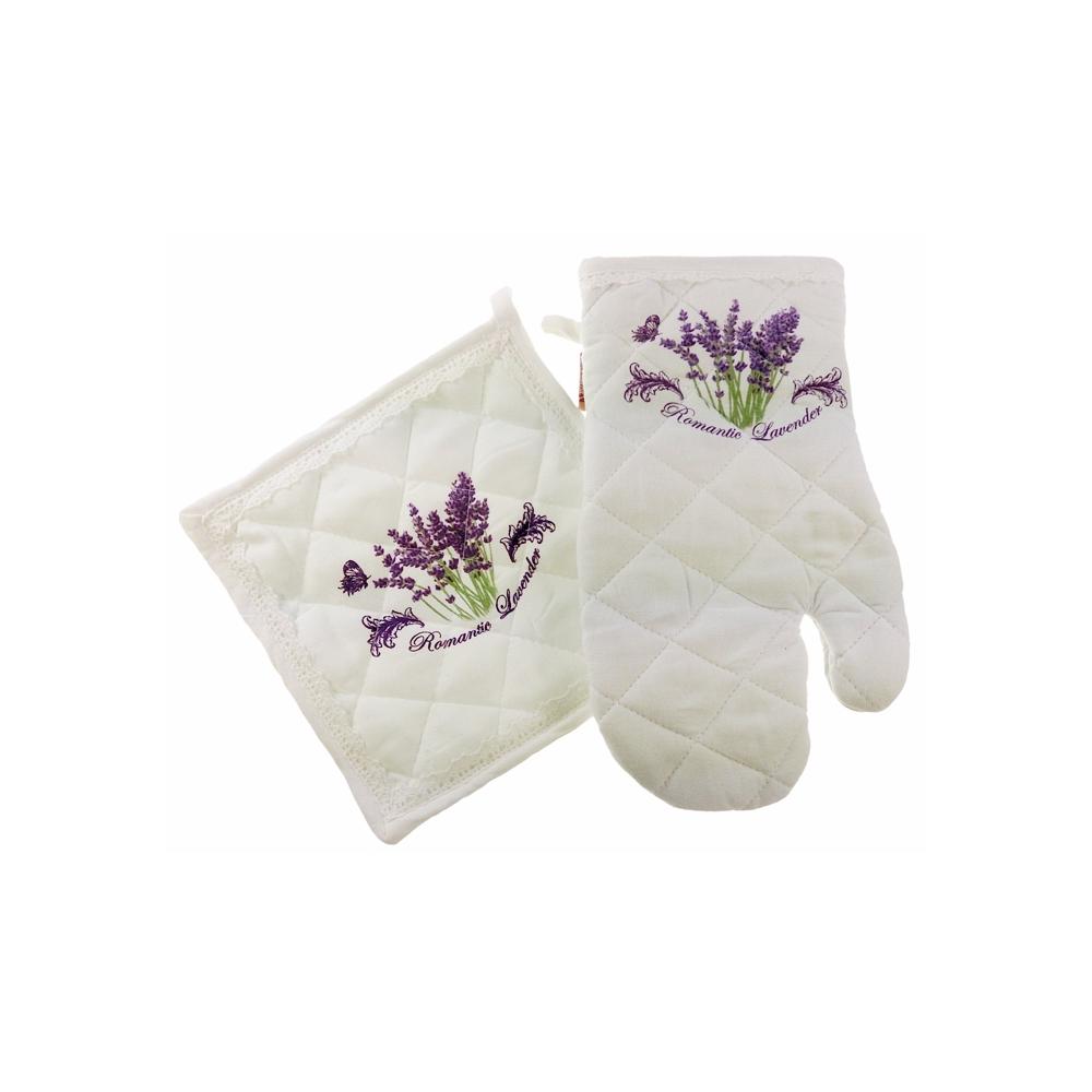 dekorwnetrz.pl białe rękawice kuchenne rękawice z lawendą, bardzo elegancko wyglądają