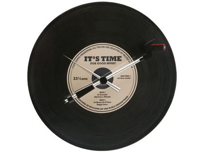 pt, Zegar w kształcie płyty  winylowej