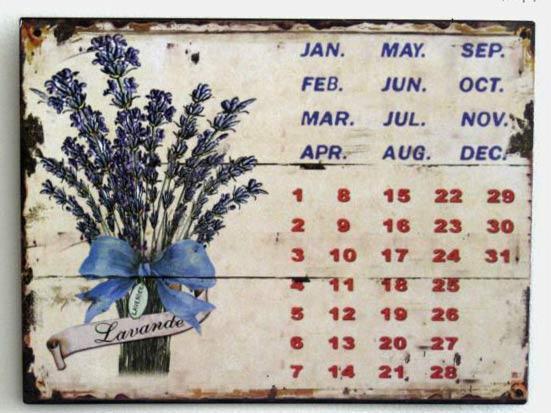dekoracjadomu.pl Kalendarz, pasuje do domku na wsi