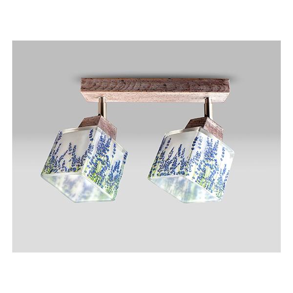 mlamp.pl lampka plafon z delikatnym wzorem gałązek lawendy
