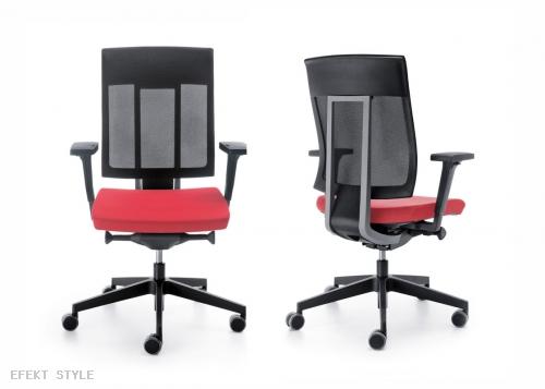 Efekt Style Krzesło czerwono-czarne