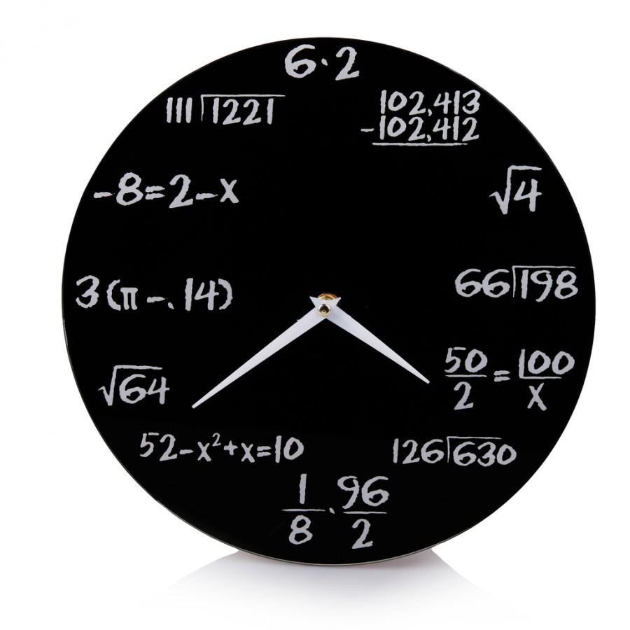 home & you matematyczny zegar na ścianę, idealny do pokoju ucznia