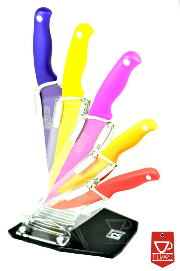 Stylagd Przeźroczysty stojak na noże w ciekawym kształcie