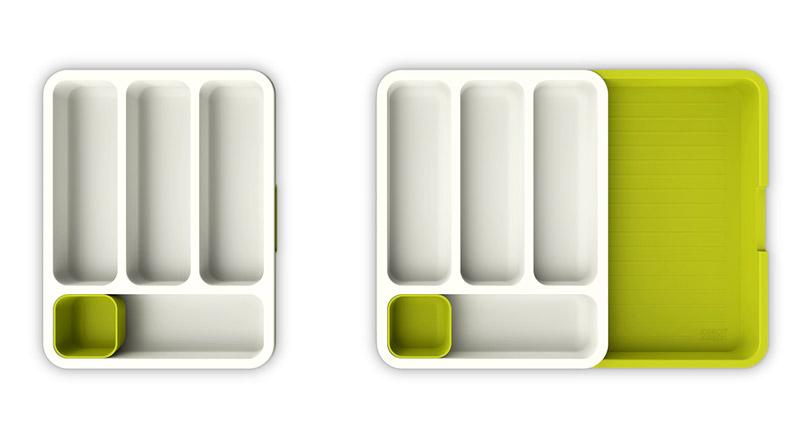 Galeria Limonka Wkład do szuflady na sztućce. Można jego wielkość dopasować do szuflady.
