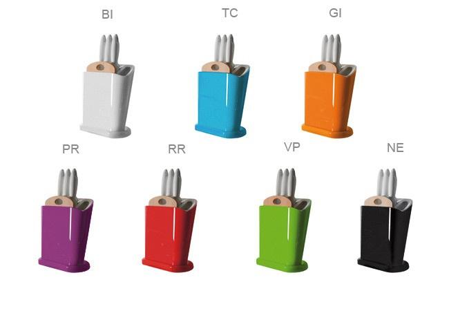 OMADA Stojak na noże w różnych kolorach